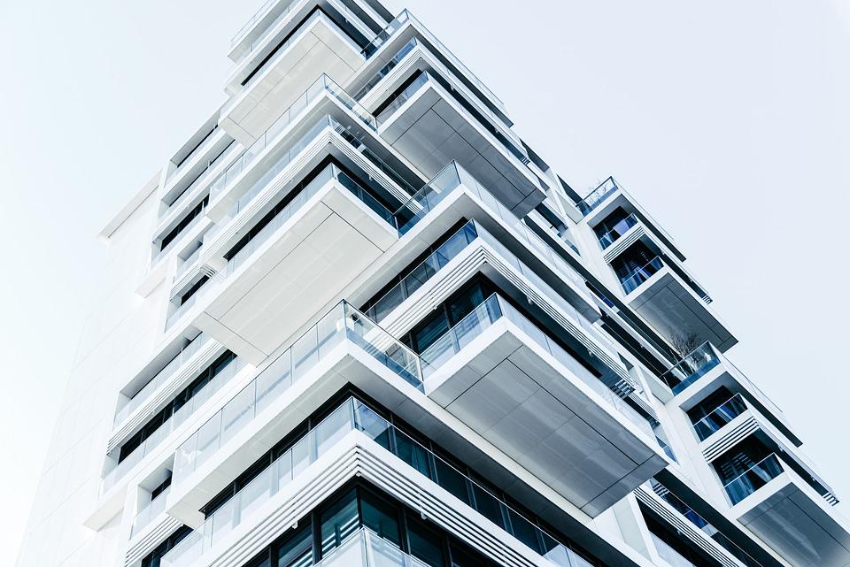 balkóny, budova
