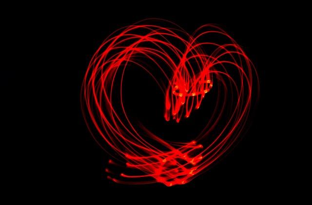 led srdce