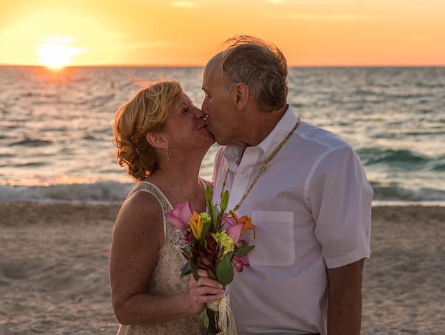 svatební romantika na pláži